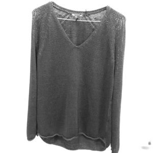 Long black sweater
